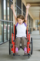 victorious girl in wheelchair
