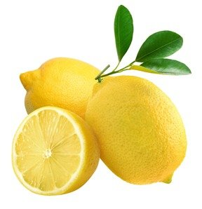 Lemon with lemon slice for cutting stress and keyboard mistakes