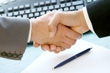 Shaking hands after disagreement to relieve stress