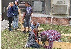 Making a difference: Building a garden at a local school